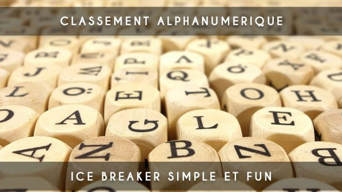 classement alphanumérique