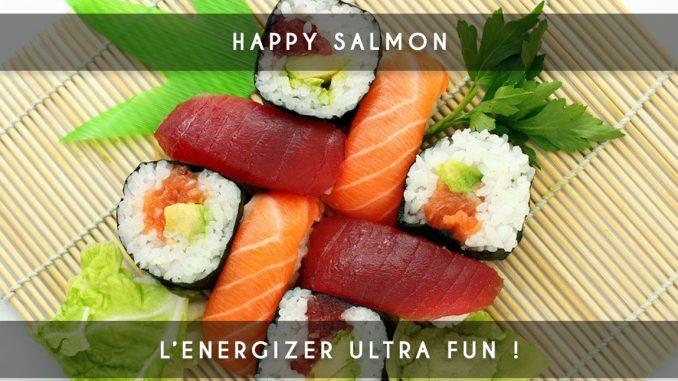 happy salmon - ice breaker